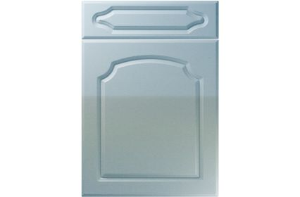 Unique Chedburgh High Gloss Blue Sparkle kitchen door