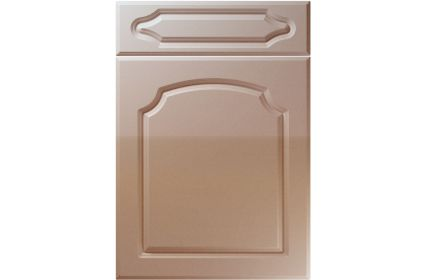 Unique Chedburgh High Gloss Cappuccino kitchen door