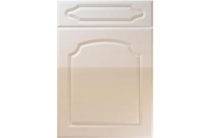 Unique Chedburgh High Gloss Cashmere kitchen door