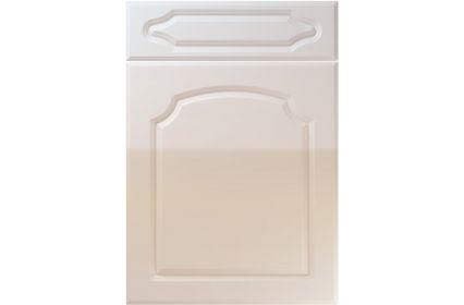 Unique Chedburgh High Gloss Cream kitchen door