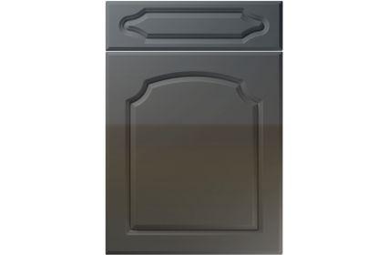 Unique Chedburgh High Gloss Graphite kitchen door