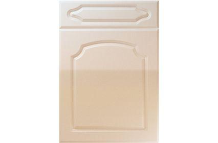 Unique Chedburgh High Gloss Sand Beige kitchen door