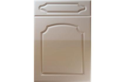 Unique Chedburgh High Gloss Stone Grey kitchen door