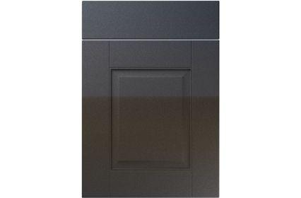 Unique Coniston High Gloss Anthracite Sparkle kitchen door