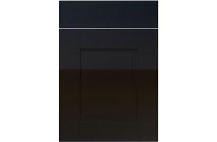 Unique Coniston High Gloss Black kitchen door
