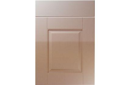Unique Coniston High Gloss Cappuccino kitchen door