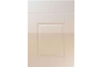 Unique Coniston High Gloss Cashmere kitchen door