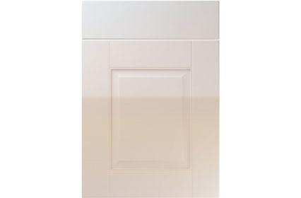 Unique Coniston High Gloss Cream kitchen door