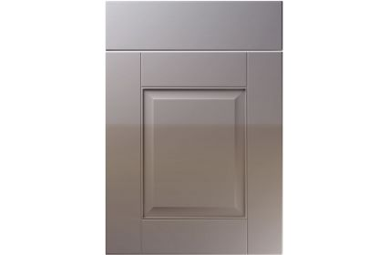 Unique Coniston High Gloss Dust Grey kitchen door
