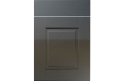 Unique Coniston High Gloss Graphite kitchen door