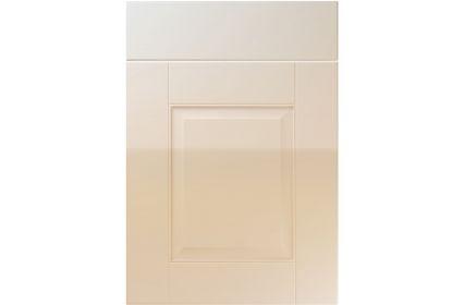 Unique Coniston High Gloss Mussel kitchen door