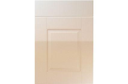 Unique Coniston High Gloss Sand Beige kitchen door