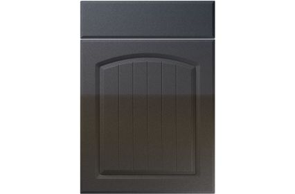 Unique Cottage High Gloss Anthracite Sparkle kitchen door