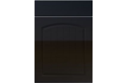 Unique Cottage High Gloss Black kitchen door