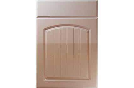 Unique Cottage High Gloss Cappuccino kitchen door