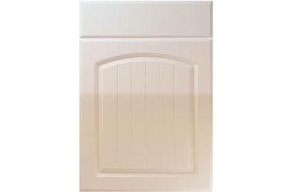 Unique Cottage High Gloss Cashmere kitchen door