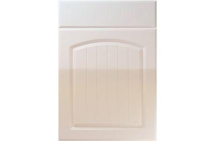 Unique Cottage High Gloss Cream kitchen door