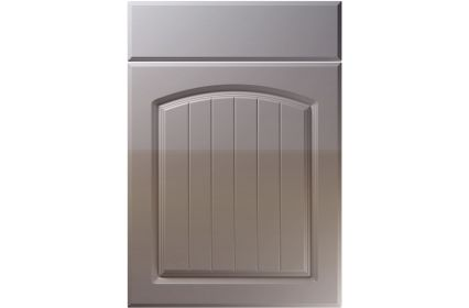 Unique Cottage High Gloss Dust Grey kitchen door