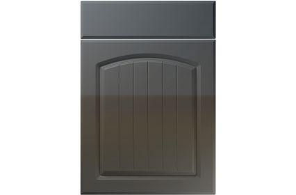 Unique Cottage High Gloss Graphite kitchen door