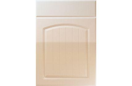 Unique Cottage High Gloss Sand Beige kitchen door