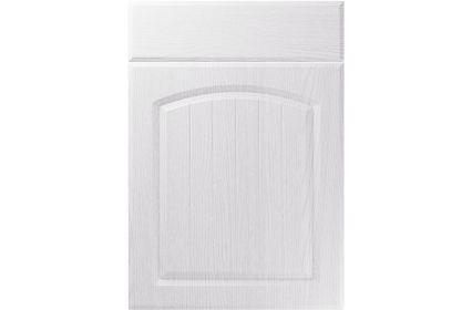 Unique Cottage Painted Oak White kitchen door