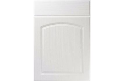 Unique Cottage Super White Ash kitchen door