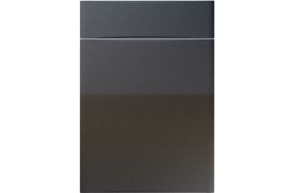 Unique Crossland High Gloss Anthracite Sparkle kitchen door