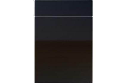 Unique Crossland High Gloss Black kitchen door