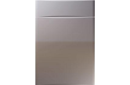 Unique Crossland High Gloss Dust Grey kitchen door