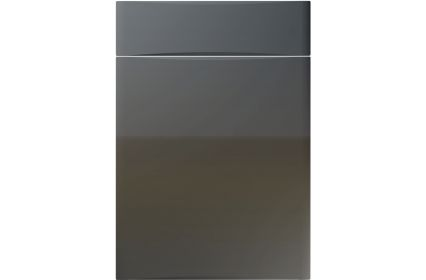 Unique Crossland High Gloss Graphite kitchen door