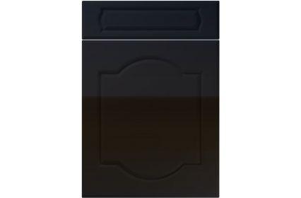 Unique Denham High Gloss Black kitchen door