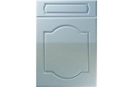 Unique Denham High Gloss Blue Sparkle kitchen door