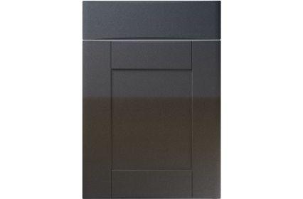 Unique Denver High Gloss Anthracite Sparkle kitchen door