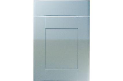 Unique Denver High Gloss Blue Sparkle kitchen door