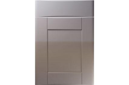 Unique Denver High Gloss Dust Grey kitchen door