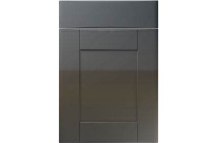 Unique Denver High Gloss Graphite kitchen door