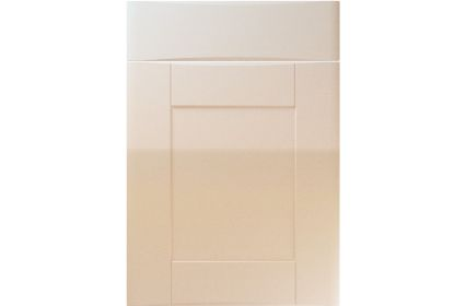 Unique Denver High Gloss Sand Beige kitchen door