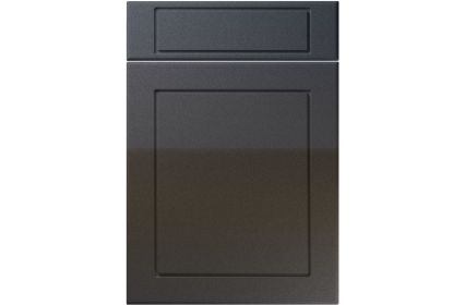 Unique Esquire High Gloss Anthracite Sparkle kitchen door