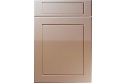 Unique Esquire High Gloss Cappuccino kitchen door