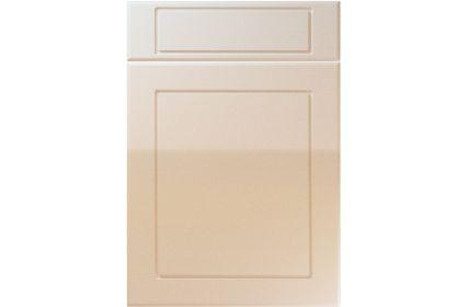 Unique Esquire High Gloss Sand Beige kitchen door