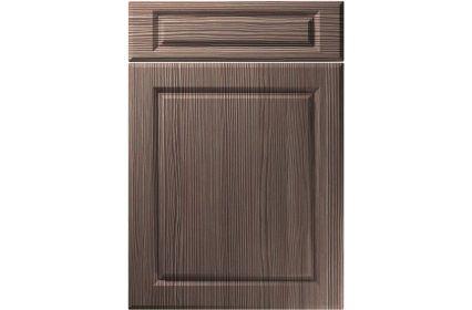 Unique Fenwick Brown Grey Avola kitchen door