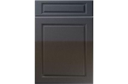 Unique Fenwick High Gloss Anthracite Sparkle kitchen door