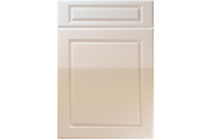 Unique Fenwick High Gloss Cashmere kitchen door