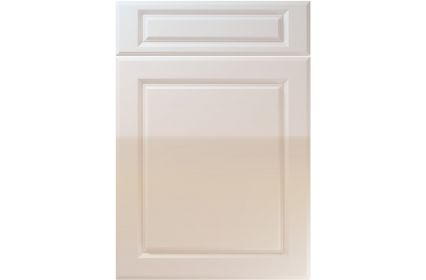 Unique Fenwick High Gloss Cream kitchen door