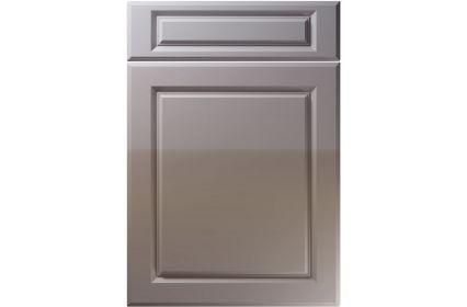 Unique Fenwick High Gloss Dust Grey kitchen door