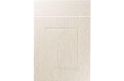 Unique Henlow Painted Oak Ivory kitchen door