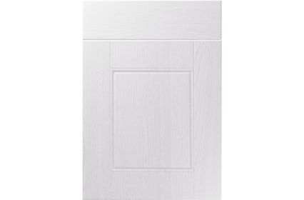 Unique Henlow Painted Oak White kitchen door