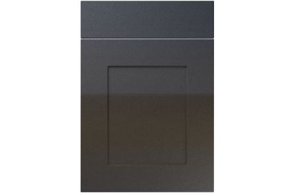 Unique Johnson High Gloss Anthracite Sparkle kitchen door