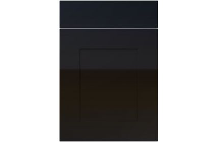 Unique Johnson High Gloss Black kitchen door
