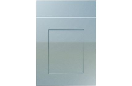 Unique Johnson High Gloss Blue Sparkle kitchen door